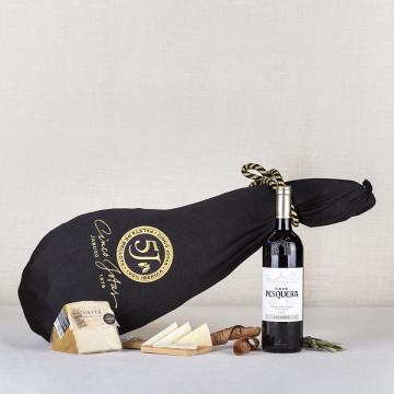 Pack Bellota 5 J con Vino Ribera del Duero Pesquera