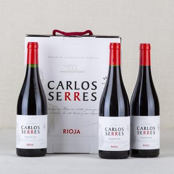 Pack Vino Rioja tinto Carlos Serres